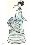 Европейский костюм 1870 — 1890 гг.