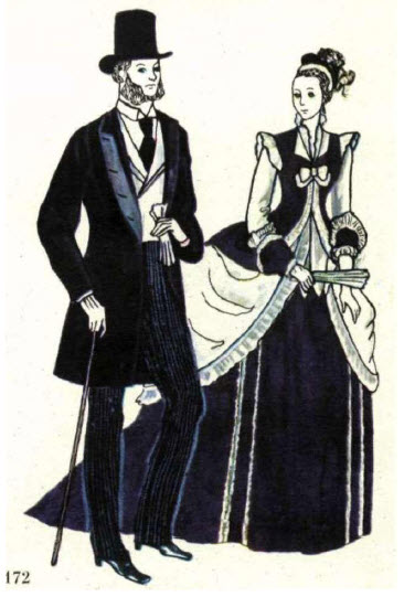 Женское купеческое платье 19 века в россии