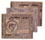 Первые бумажные деньги в США