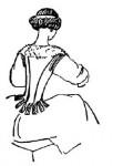 Женский костюм моды барокко
