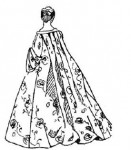 Костюм первой половины XVIII века. Мода рококо.