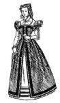 Французский женский костюм эпохи Возрождения