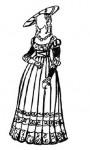 Германский женский костюм эпохи Возрождения