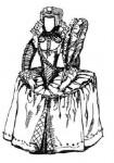 Английский женский костюм эпохи Возрождения